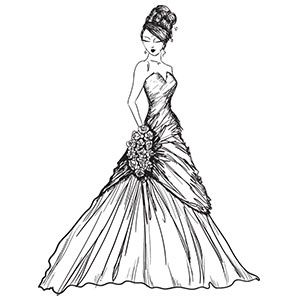 Girl In A Gown Coloring Pages For Girls Free Adult Coloring