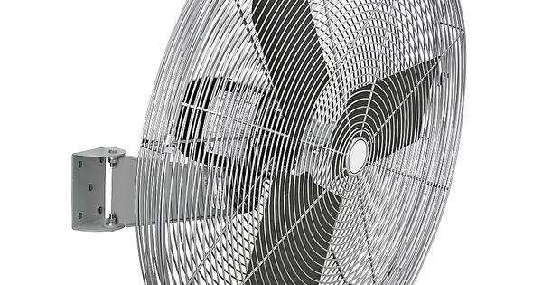 24 Diameter 1//4hp Oscillating Wall Mount Fan 7525cfm