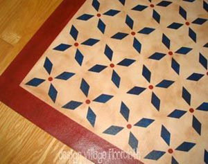 Colonial Floor Cloth Lots Of Good Patterns Mix And Match Borders