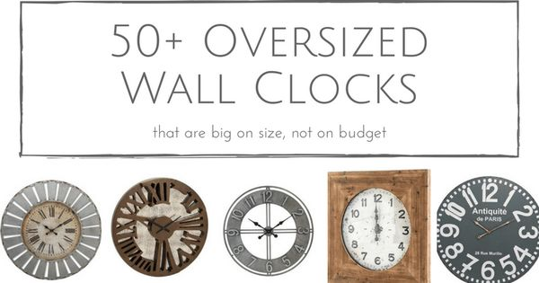 50+ Rustic Oversized Wall Clocks That Are Big On Size, But