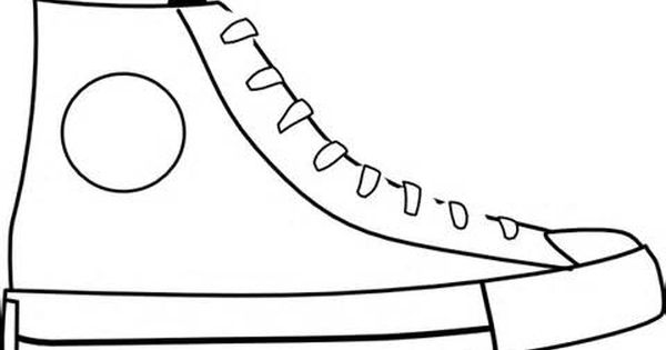 Blank Shoe Coloring Page Coloring Coloring Pages Shoe Template