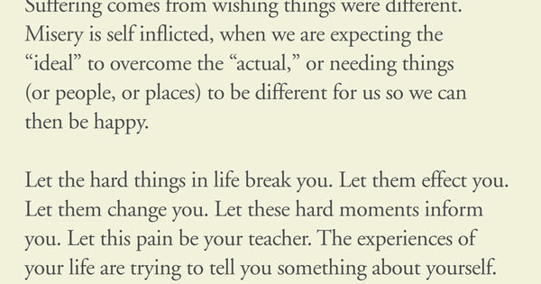 lean in to the lessons... PemaChodron
