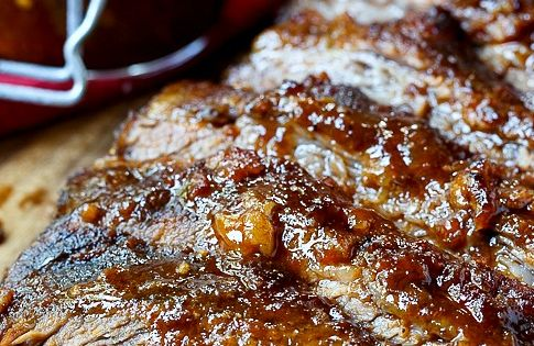 Oven-Barbecued Beef Brisket. This is the best brisket ever and you'd never