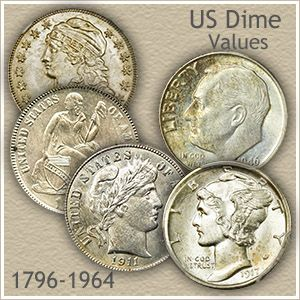 Mercury /&  Roosevelt Dimes 90/% Silver Vintage Coin Collection of Barber