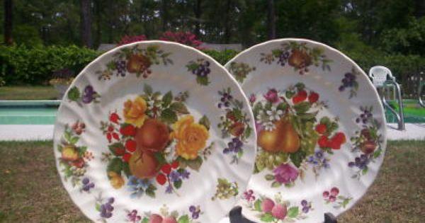 The Georgian Collection Churchill Fruit Pattern Plates Patterned Plates Fruit Pattern Plates