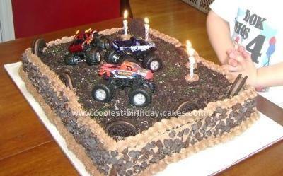 Coolest Super Chocolate Monster Truck Cake Monster Truck