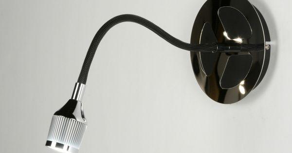 Artikel 89214 bijzonder ontwerp wandlamp voorzien van led het armatuur is uitgevoerd in chroom - Spotlight ontwerp ...