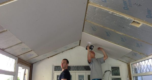 Interior During Insulated Conservatory Roof Replacement In 2020 Conservatory Roof Conservatory Roof Insulation Roof Insulation