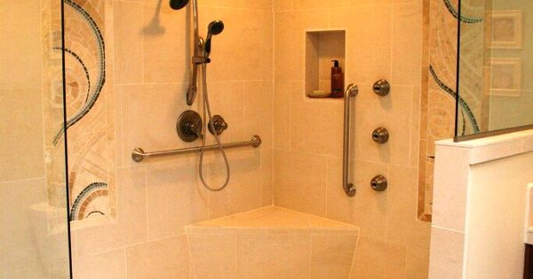 Aging In Place And Ada Sympathetic Bathroom Remodel By Hardline Design And Construction In