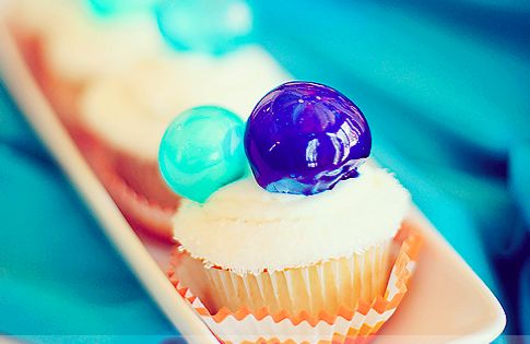 DIY Bubbles cupcake