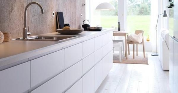 Ikea nodsta kitchen handleless j front in the kitchen pinterest ikea keuken ikea en keuken - Keuken minimalistisch design ...