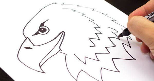 how to draw a realistic eagle
