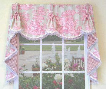 Waverly Reversible Valance Sew Pattern Window Curtain Valance