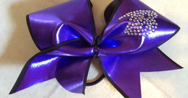 Baltimore ravens cheerleading bow with crystals arts for Cheerleading arts and crafts