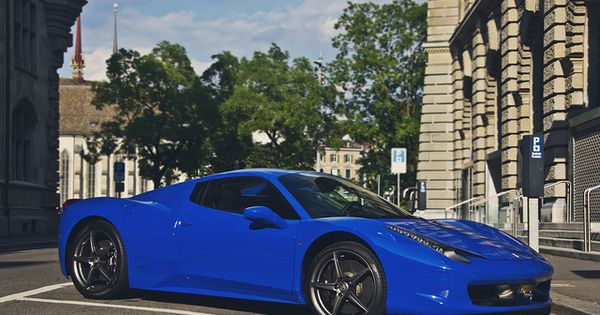 Gorgeous cobalt Blue Ferrari Spider