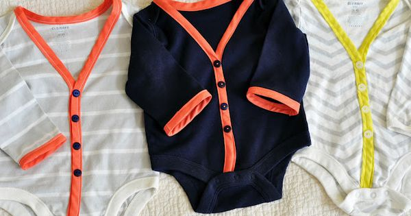 """diy cardigan onesies. this was SUCH an easy project and turned out"