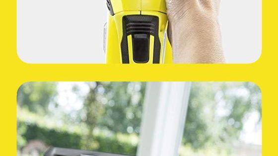 Karcher Fenstersauger Wv 5 Premium Non Stop Cleaning Kit Mit Entnehmbarer Akku Inkl Ersatzakku Und 2 Absaugdusen Sch Fenstersauger Karcher Fenstersauger Kit
