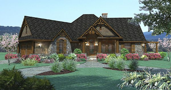 Lodge Style Craftsman House 1900 Sft By Texas Architect