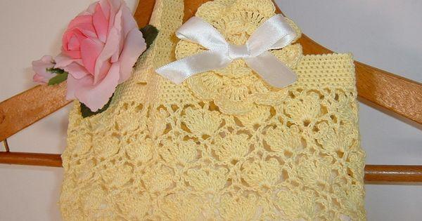Borse Alluncinetto Con Cotone : Romantica borsa per bambina all uncinetto in cotone giallo