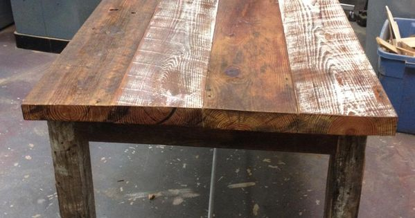 Reclaimed Wood Farm Table Do It Yourself Home Projects
