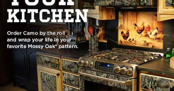 Camo your kitchen mossy oak patterns cabin life for Camo kitchen ideas