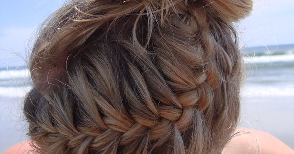 #Hair Style Summer Braid Bun