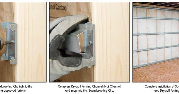 Installing Soundproofing Clips
