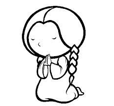 Resultado De Imagen Para Persona Dibujada Rezando Mujer Orando Dia De San Pedro Dibujos
