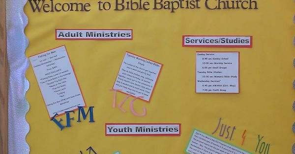 Classroom Decorations For Summer ~ Church information board idea bulletin ideas