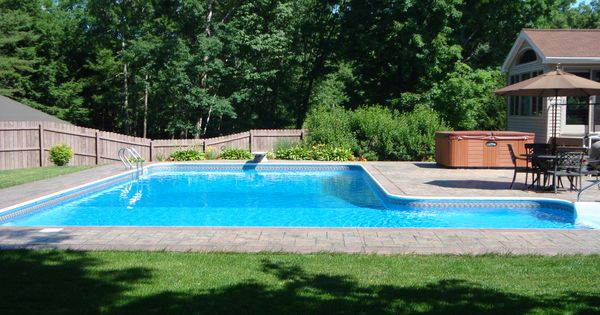 Another L Shaped Pool Design With Pavers Outdoor Living