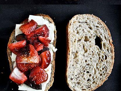roasted strawberry, brie, & dark chocolate grilled sandwich