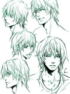 Proportions Reference Manga Hair Guy Drawing Male Face Drawing