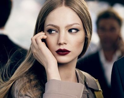 Bold lip (fall makeup)