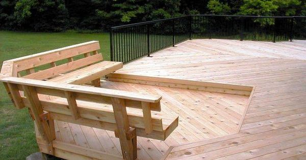 Built In Bench Replacement Of Railing Outdoor Pinterest Decking Cor