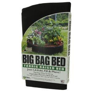 Black Planting Grow Bag Fabric Raised Bed Garden Planter Elevated Vegetable Box