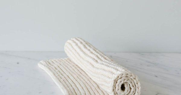 Hand Knit Bath Mat Hand Knitting Pure Products Knitting