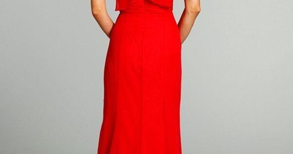 Back red long evening dress