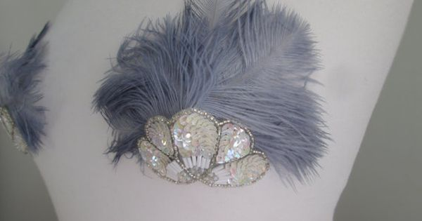 Grey Ostrich Feather Nipple Pasties With By -6572