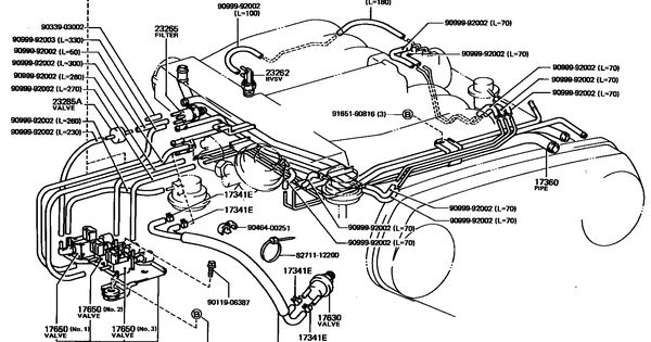 Vacuum Diagram Toyota 4runner With Images Toyota 4runner