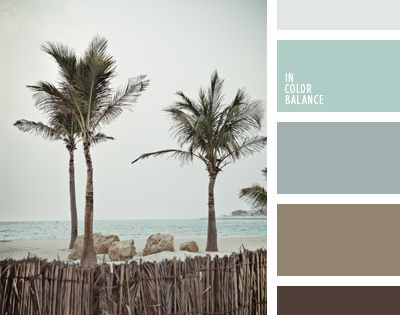 Natural blend of cold shades of blue and brown make for a