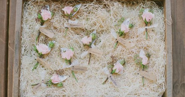 pretty pink boutonnieres | photo by Haley Sheffield