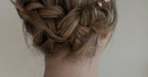 Backward braid with hair sticks Beautiful Pinterest Braids, The ...
