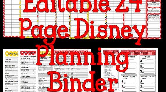 Instant Download Editable Disney Planning Binder by ...