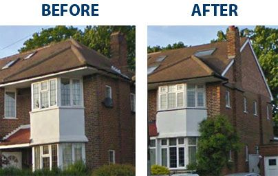 Google Image Result For Http Www London Loftconversion Co Uk Hip To Gable Before 26 After Jpg Loft Conversion Loft Conversion Bedroom Attic Renovation