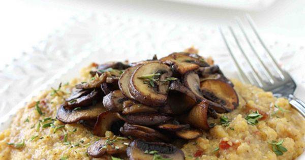 Bacon Polenta Recipe with Sauteed Crimini Mushrooms ...