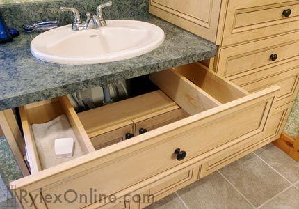 U Shaped Vanity Sink Drawer Sink Drawers Bathroom Renovation