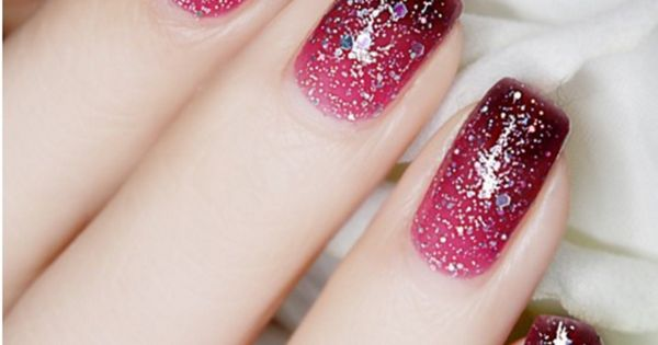 Thermal Color Changing Nail Polish With Glitter 23808