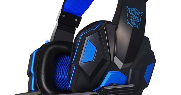 Metermall Headset with Mic 7.1 Surround Sound Noise Reduction Mic On-Earcup Control RGB LED Lights Professional PC Gaming Headset Gaming Headphones