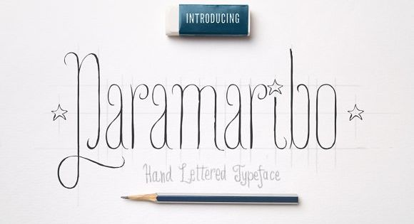Meet Paramaribo, a hand lettered, cute and decorative font