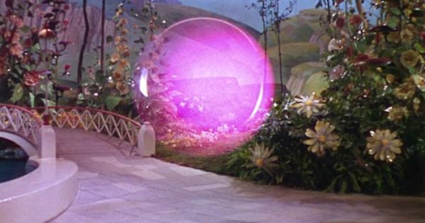 Glinda Going Away In A Pink Bubble Via Tumblr.Com   The ...
